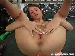 Teen training and masturbating