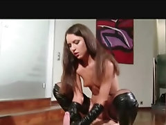 Dirty brunette teen domina has some kinky fun