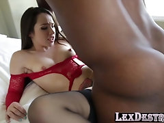 Horny Lola Foxx seduces Lex into fucking