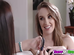 Horny teens Avi Love and Harley Jade love to fuck old dudes