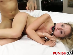 Huge dick punishment for Goldie Rush