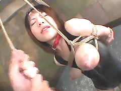 Sweet Asian slave gets her sexy breasts tortured