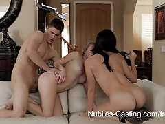 Nubiles-Casting Video: Holly Michaels & Lia Ezra